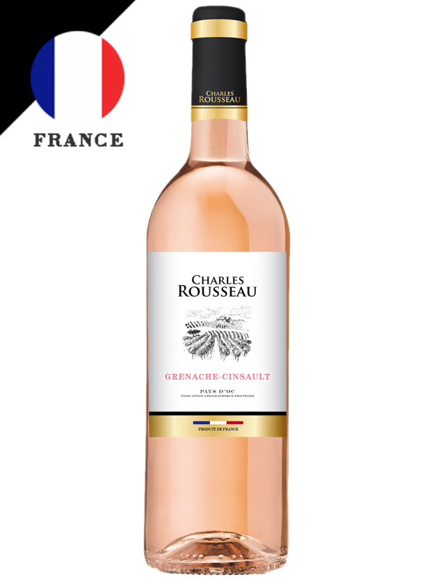 法國 夏爾樂 奧克地區粉紅酒 Charles Rousseau Pay d'Oc Rosé 1
